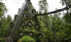 The Montaña Mágica Lodge lets you sleep inside a waterfall - Posted on Roadtrippers.com!