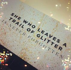 Trail Of Glitter