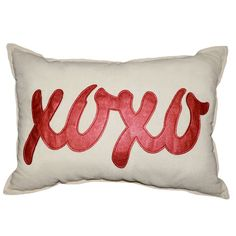 XOXO Throw Pillow from Tara's Deals. Share the love with this cute pillow that is the perfect décor for Valentine's Day. #scottsmarketplace