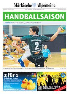 Alles zur Handballsaison 2012 / 2013 im Kreis Oberhavel in Brandenburg » http://app.maerkischeallgemeine.de/e-paper/120830handballohv/index.htm