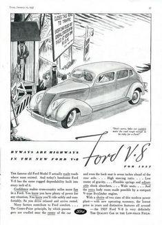 1937 Ford V-8 Ad