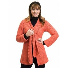 Scarf-Tied Jacket Small to 3X