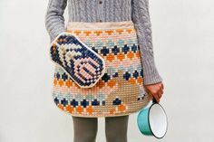 paperfolk: Monday Musings: Karen Barbe amazing cross stitched apron and potholder