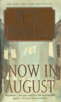 Snow in August.  Just saw Pete Hamill speak at the #brooklynbookfest and realized I really need to reread this.