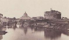 Castel S. Angelo e San Pietro visti dal Tevere James Anderson, Paris Skyline, Rome, Taj Mahal, Louvre, History, City, Travel, San Angelo