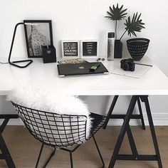 desk organization minimal office decor