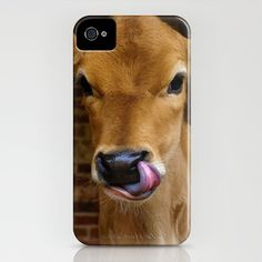 Jersey Cow iPhone Case by Kat Gibbs - $35.00
