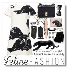 """""""Feline Fashion"""" by summersdream ❤ liked on Polyvore featuring Valentino, Tom Ford, Gucci and Daum"""