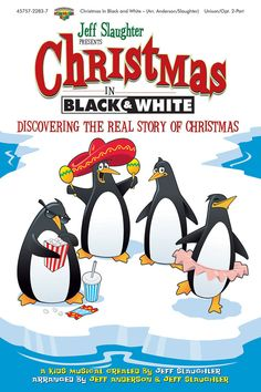 childrens christian musicals christmas in black and white musical kit - Childrens Christmas Musicals