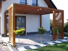 Attached Pergola Design for Your Dream Home - ., attached pergola design for your dream home - home There are various things which can easily eventually entire your backyard, like a classic white-colored picket. Diy Pergola, Building A Pergola, Pergola With Roof, Outdoor Pergola, Pergola Shade, Diy Patio, Backyard Patio, Backyard Landscaping, Landscaping Ideas