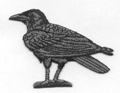 RAVEN CROW WILD-BiRD Bird Black Birds by CedarCreekPatchShop Black Crow Iron On Patch #Crow #IronOnPatch
