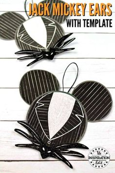 Make your own unique Christmas ornament for your Christmas tree. Check out this fantastic Jack Mickey Ears craft inspired by the movie A Nightmare Before Christmas.  Disney Crafts for Kids #christmas #christmasornament #jackmickeyears #mickeyears #mickeymouse #nightmarebeforechristmas #christmastree #craftsforkids #christmascrafts #easycrafts