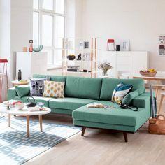 Canapé d'angle Billund - Tissu | home24.fr