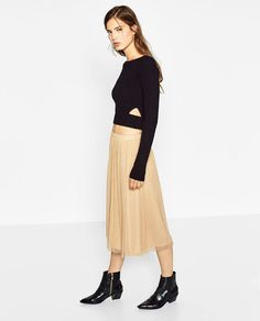 Image 2 of TULLE MIDI SKIRT from Zara