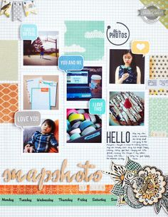In a Creative Bubble: Studio Calico So Cal  love everything about this layout, the colors, the design, the stamps...