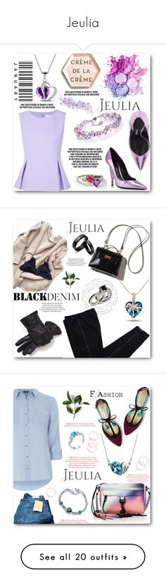 """""""Jeulia"""" by angelstar92 ❤ liked on Polyvore featuring jewelry, jeulia, Rosanna, Diane Von Furstenberg, COSTUME NATIONAL, ASOS, blackdenim, Boden, Rebecca Minkoff and Dorothy Perkins"""
