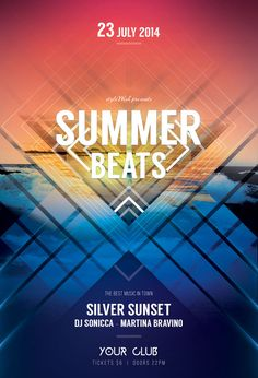 Summer Beats Flyer by styleWish (download PSD template)