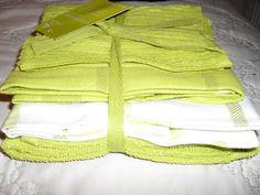 4PK WASHINGTON COTTON TEA TOWELS 3XTEATOWEL 1XTERRY DISH CLOTH 4 COLOURS NEW   eBay