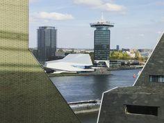 River IJ Eye Museum Amsterdam Coventry, Marina Bay Sands, Ethereal, Amsterdam, Geek Stuff, Museum, River, Eye, Writing