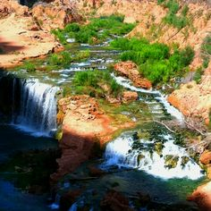 Havasu Indians reservation essentially IS Havasu Canyon, the falls the travertine pools, and a little slice of heaven to live in.  For tourists, there is the option of renting donkeys to ride down (and up) from a modern small hotel, with meals avalable.  Hiking & camping, etc is also encouraged.