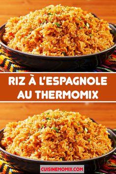 Riz à l'espagnole facile au thermomix. Je vous propose une délicieuse recette de Riz à l'espagnole, facile et simple à réaliser au thermomix.