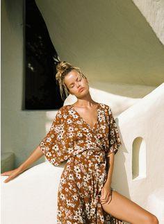 CECILE ROSE PRINT - BERGAMO MAXI DRESS