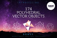 Polyhedral Vector Objects + Bonus! by 52NINE GRAPHICS on @creativemarket