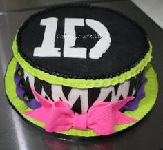 A guest at the party last week with a 1D cake loved it and wanted one for her party the following week with just a little more electric green!