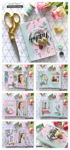 Happy Heart mini album made with @Crate Paper @maggieholmes Chasing Dream collection. | Flora Monika Farkas #cratepaper #maggieholmes #chasingdreams #cpchasingdreams #minialbum