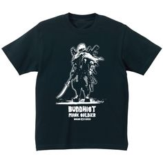 SAKAKI 僧兵・壱 Tシャツ 古代から後期、中世、近世初頭まで存在した僧兵をデザイン。 豊臣秀吉の刀狩まで存在していたと言われていますが、現代にも生き残っていたという設定でのデザイン。 それなので武器は薙刀だけではなく、銃も持っています。