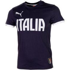 Puma Italy Team Name Graphic T-Shirt - Navy Blue