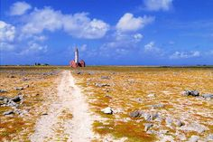 Klein Curacao - The 20m (66ft) tall lighthouse tower is abandoned, along with the two ruined 2-story keeper's houses flanking it, but still functional. It was reactivated with a solar-powered LED beacon during the restoration of Curacao's aids to navigation in 2008, having stood utterly dormant for many years prior.