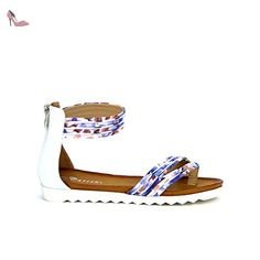 Cendriyon, Tong Violette Motif PAINT'S Catisa Chaussures Femme Taille 36 - Chaussures cendriyon (*Partner-Link)