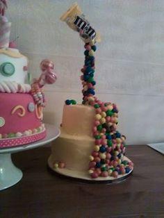 My first Gravity Defying cake, Love It www.kitchenfairiesleeds.co.uk