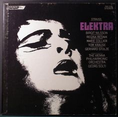 "Digital Collections : Proof : Proof for LP Cover, Strauss's ""Elektra"" (London Records) Vienna Philharmonic, Richard Strauss, Lp Cover, Historical Images, Orchestra, Movie Posters, Objects, Detail, Products"