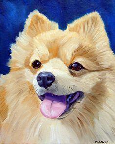 Pomeranian dog Original Fine Art Oil Painting Portrait puppy on canvas Cute Dog Drawing, Diy Canvas Art, Dog Paintings, Watercolor Bird, Dog Portraits, Dog Art, Illustration Art, Fine Art, Drawings