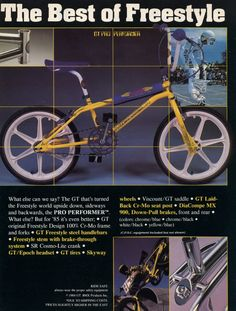 '85 GT Performer freestyle bike advertisement