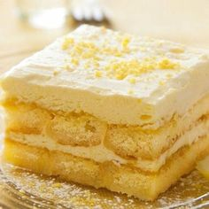 A flavorful recipe for lemon tiramisu. Perfect enjoyed with a hot cup of coffee…. A flavorful recipe for lemon tiramisu. Perfect enjoyed with a hot cup of coffee. Lemon Tiramisu Recipe from Grandmothers Kitchen. Italian Desserts, Lemon Desserts, Lemon Recipes, Just Desserts, Sweet Recipes, Cake Recipes, Dessert Recipes, Italian Recipes, Italian Cake