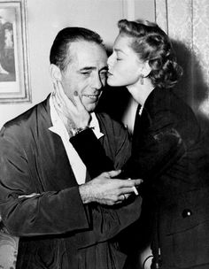 Bogart + Bacall  I love these two! Born in 1985 and Casablanca is one of my favorite movies!!! <3