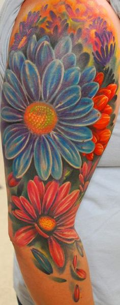 Tattoos Flower Realistic Custom Body Part