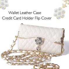 F-Eye® Ladies' Purse Diamond Wallet Leather Quilted Flip Case with Wristlet for Apple iPhone Iphone 5s, Apple Iphone, Leather Case, Leather Wallet, Latest Electronic Gadgets, Amazon Mobile, Online Mobile, Ladies Purse, Mobile Covers