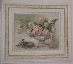 Christie Repasy Designs Home Page Vintage Frames, Vintage Prints, Romantic Artwork, White And Pink Roses, Sell My Art, Romantic Roses, Floral Theme, Canvas Prints, Art Prints
