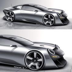 concept cars Singer 911 Targa Vision - I know, its a frog! Singer 911, Singer Porsche, Corvette C7 Stingray, Ferrari F80, Car Design Sketch, Car Sketch, California Classic Cars, Supercars, Peugeot Partner