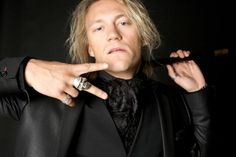 Jukka Hildén form the Dudesons wearing lace scarf