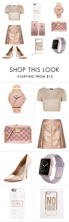 """""""I Need My Self"""" by badwitch-69 on Polyvore featuring Nixon, Topshop, MICHAEL Michael Kors, Glamorous, Charles David, Casetify and ASOS"""