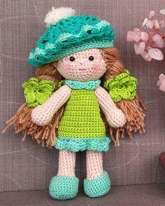 Crochet doll crochet toy knit doll knit toy hand knit