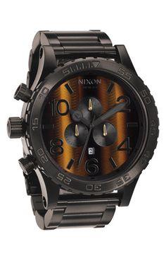 Nixon The 51-30 Chrono Tigers-Eye Watch | Nordstrom