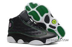 5c465d6f23f849 Jordans 13 Black Green White TopDeals