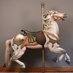 (ATT.) MARCUS ILLIONS CARVED CAROUSEL HORSE : Lot 400Y