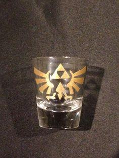 Triforce legend of Zelda gold shot glass  $6.50